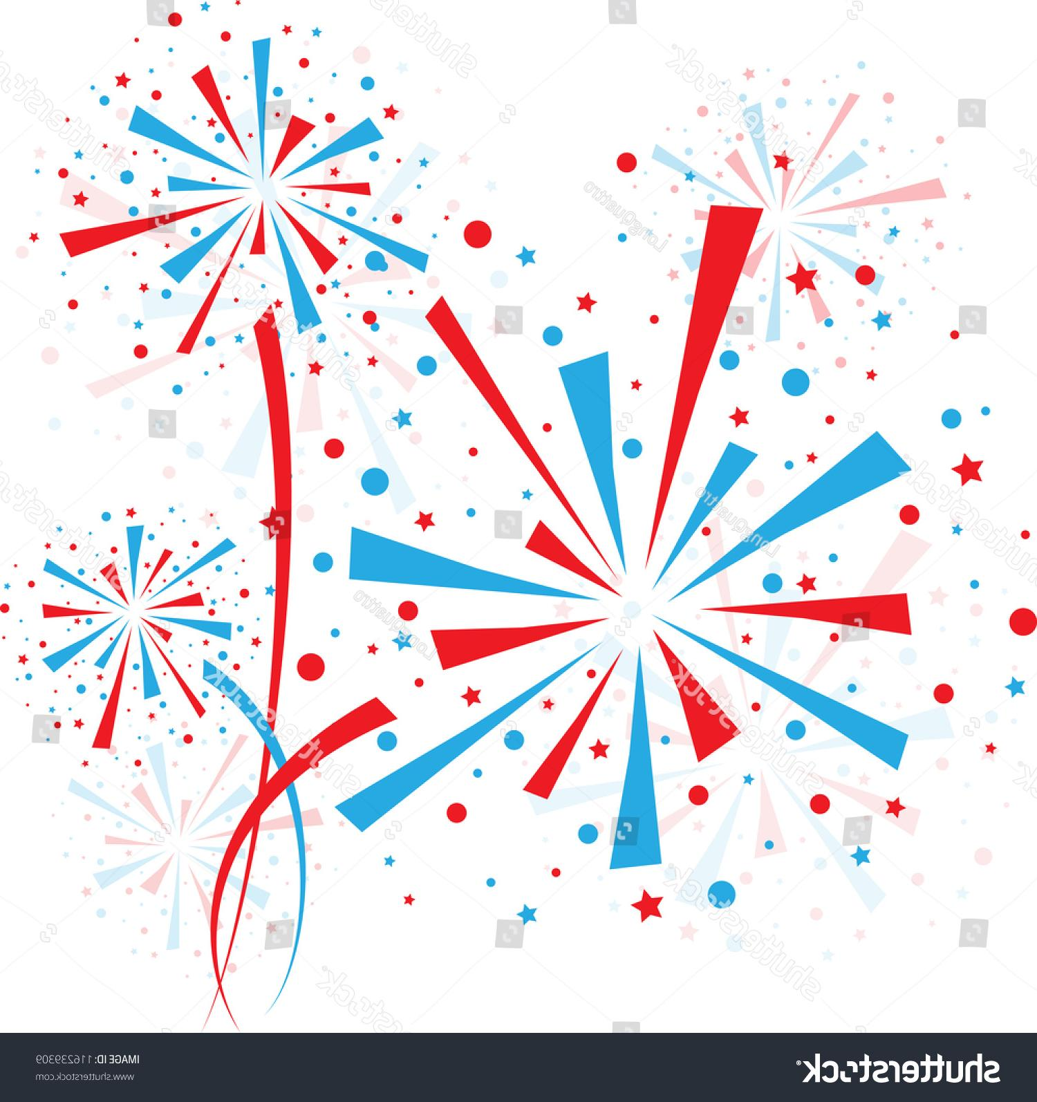 Unique Red White And Blue Vector Fireworks File Free » Free.