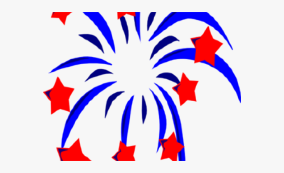 Sparklers Clipart Red White Blue Firework.