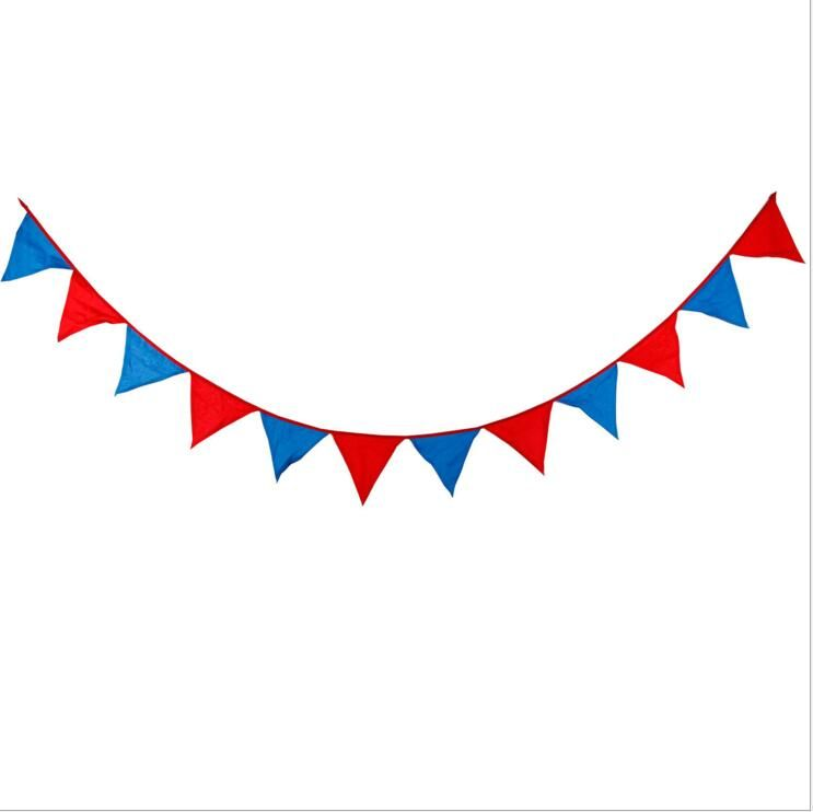 1PC 3.2m 12 Flags Banner Pennant Superman Style Cloth Party.