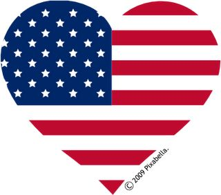 Red, White & Blue Heart.