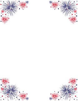 Red, White, and Blue Border 8.