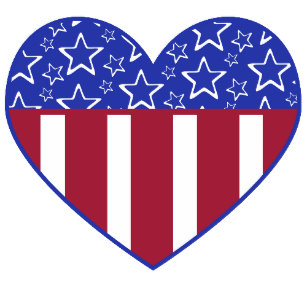 Red White And Blue Hearts Postcards Cards.