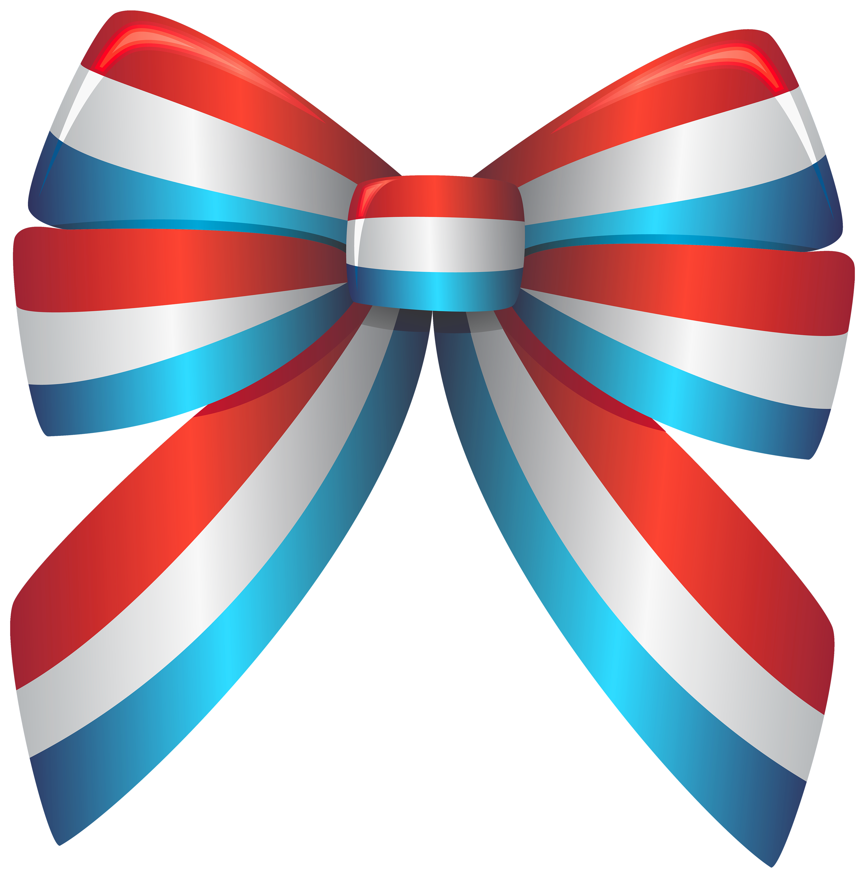 Red White and Blue Ribbon PNG Clipart.