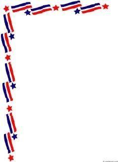Free Patriotic Page Borders.