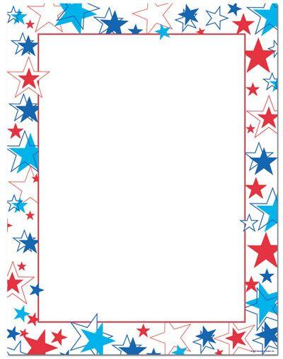 Red White Blue Stars Letterhead.