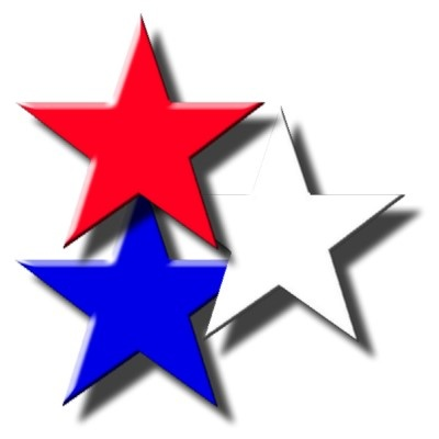 Red White And Blue Star Clipart.