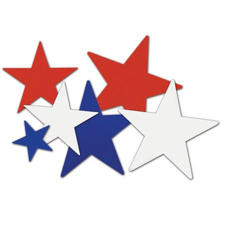 Red, White, and Blue Star Cutouts.