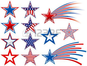 Red White Blue Stars Cliparts, Stock Vector And Royalty Free.