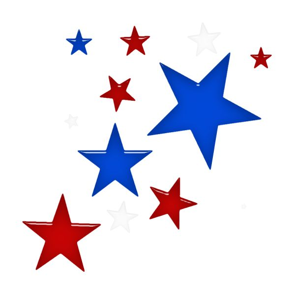 Red White And Blue Stars Clipart 17.