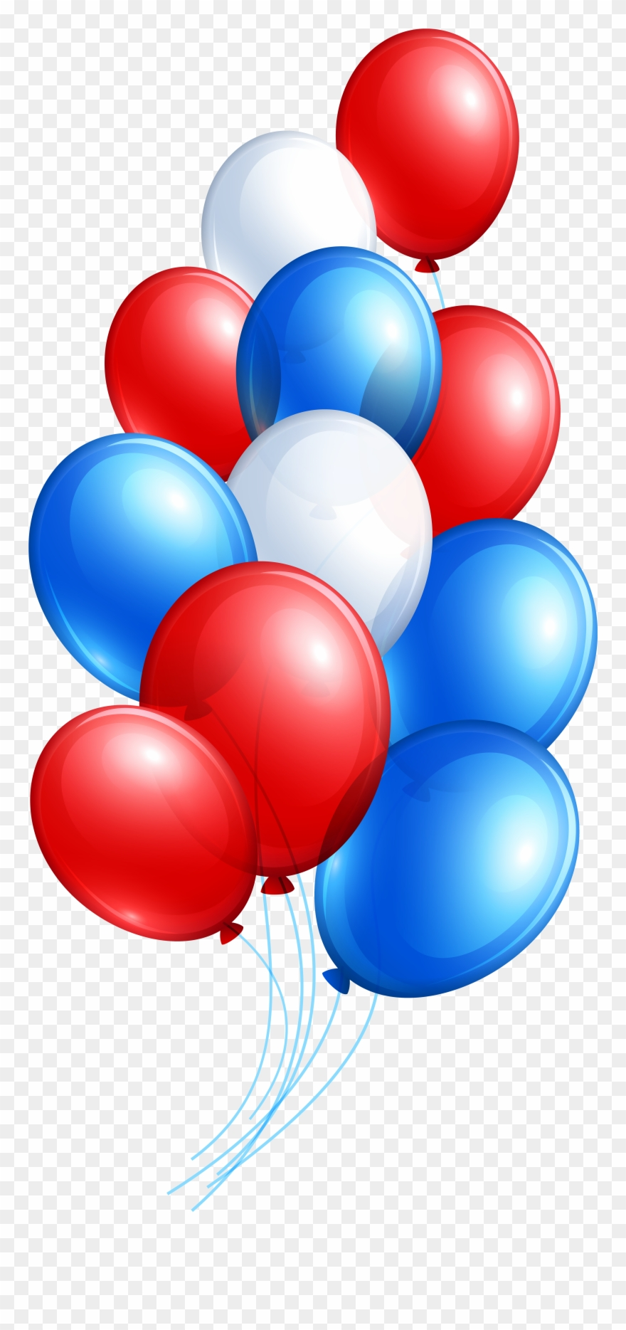 Red And Blue Balloons Transparent Background Clipart (#34545.