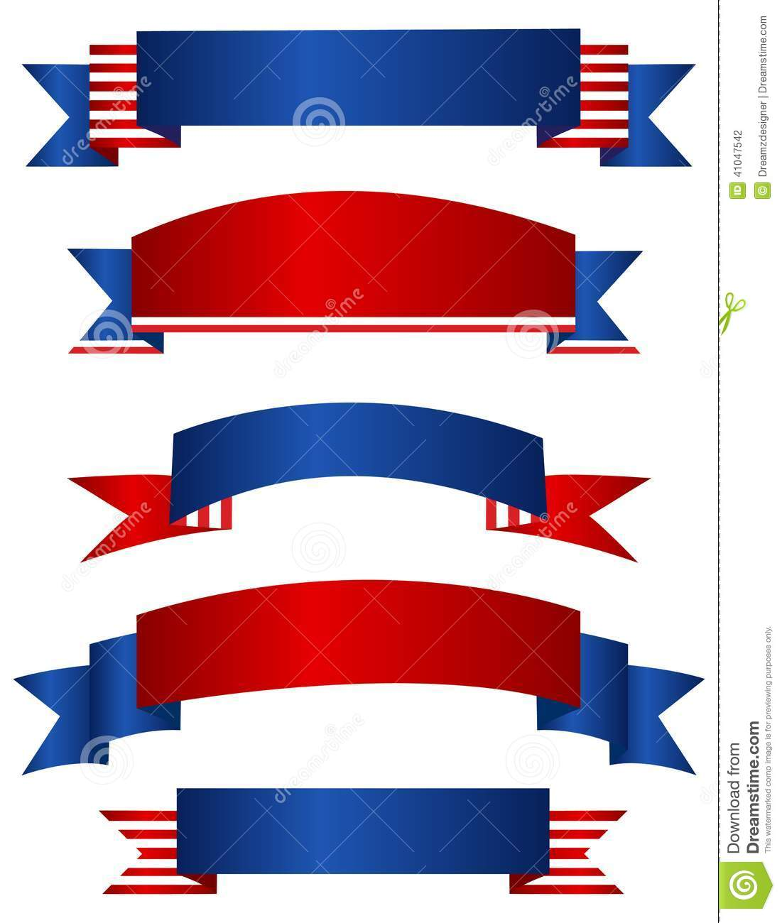 Red white blue banner clipart 4 » Clipart Station.