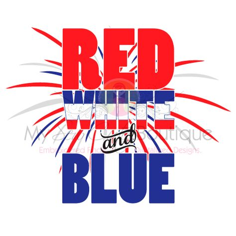 Red White and Blue SVG Files 4th of July Patriotic Designs.