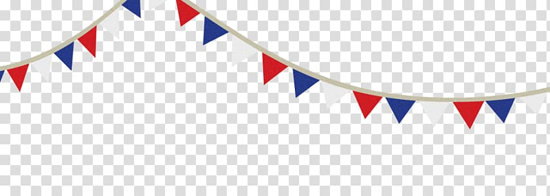 White, red, and blue buntings , Bunting Blue Banner , Red.