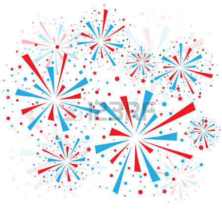 3847 Fireworks free clipart.