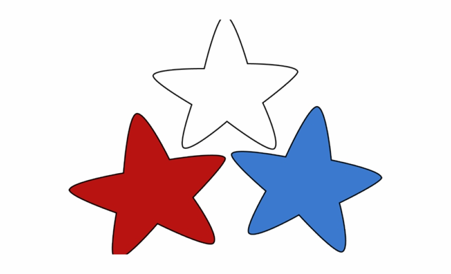 Patriotic Clipart Red White Blue Star.
