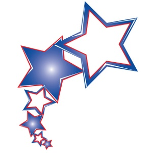 Red White And Blue Stars Clipart 6.