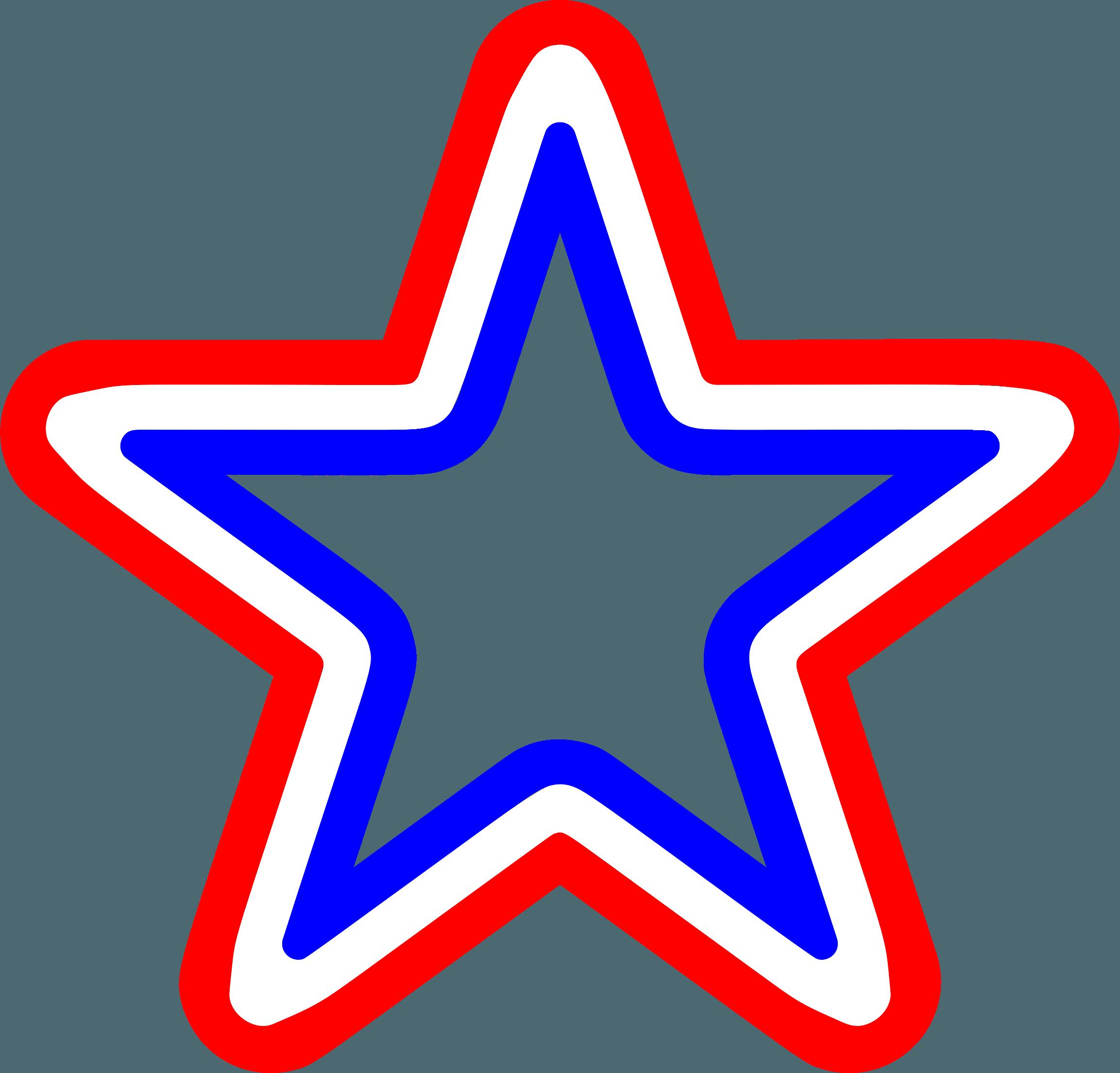 Red White Blue Star Logo.