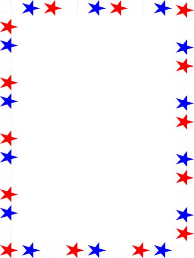 Clipart red white and blue borders.