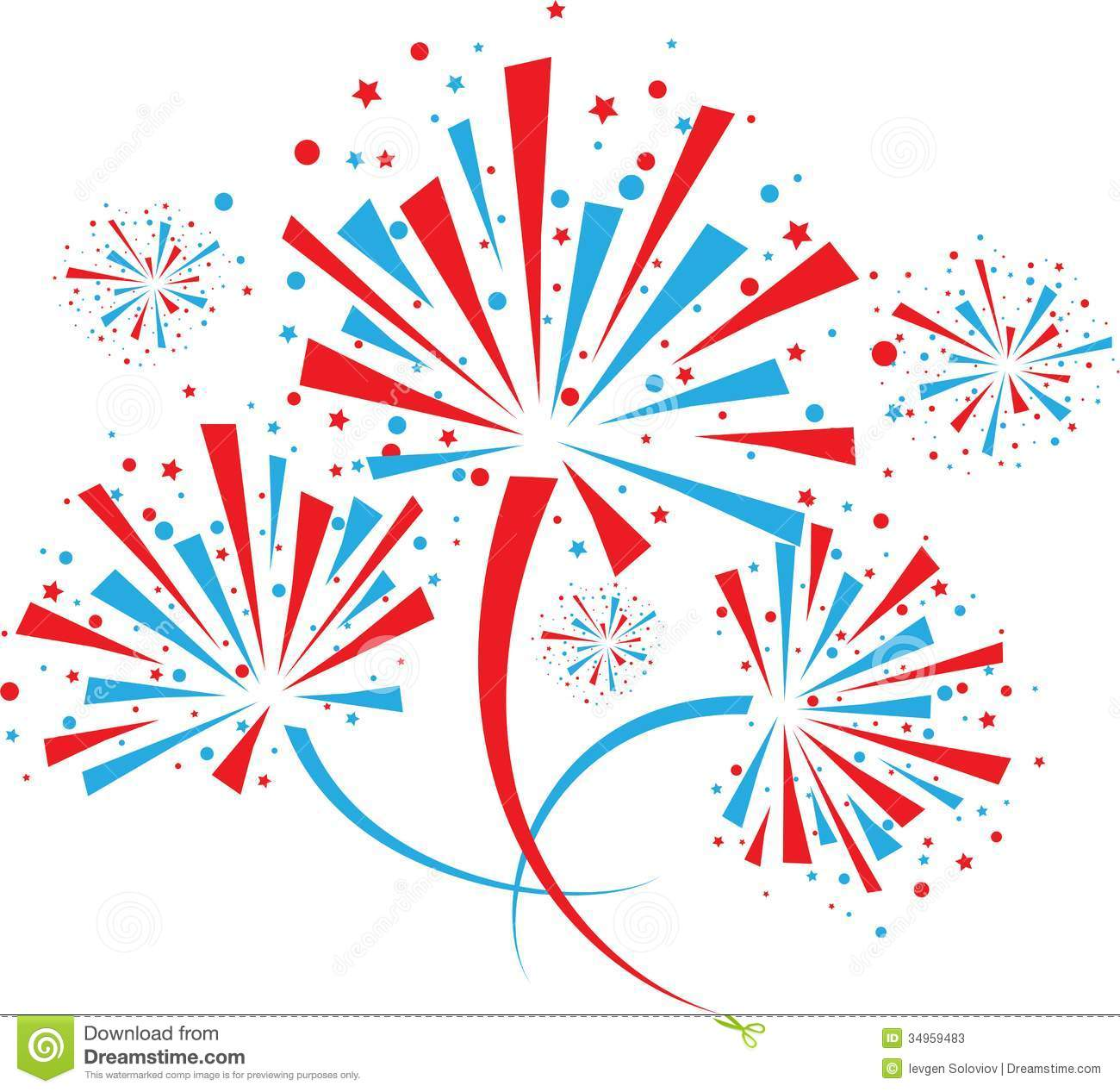 Red white blue stars clipart.