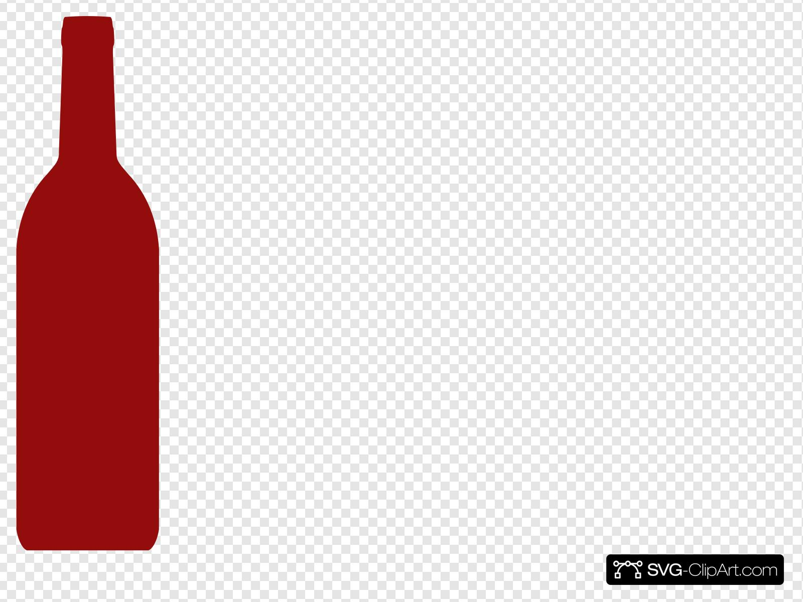 Red Wine Bottle Clip art, Icon and SVG.