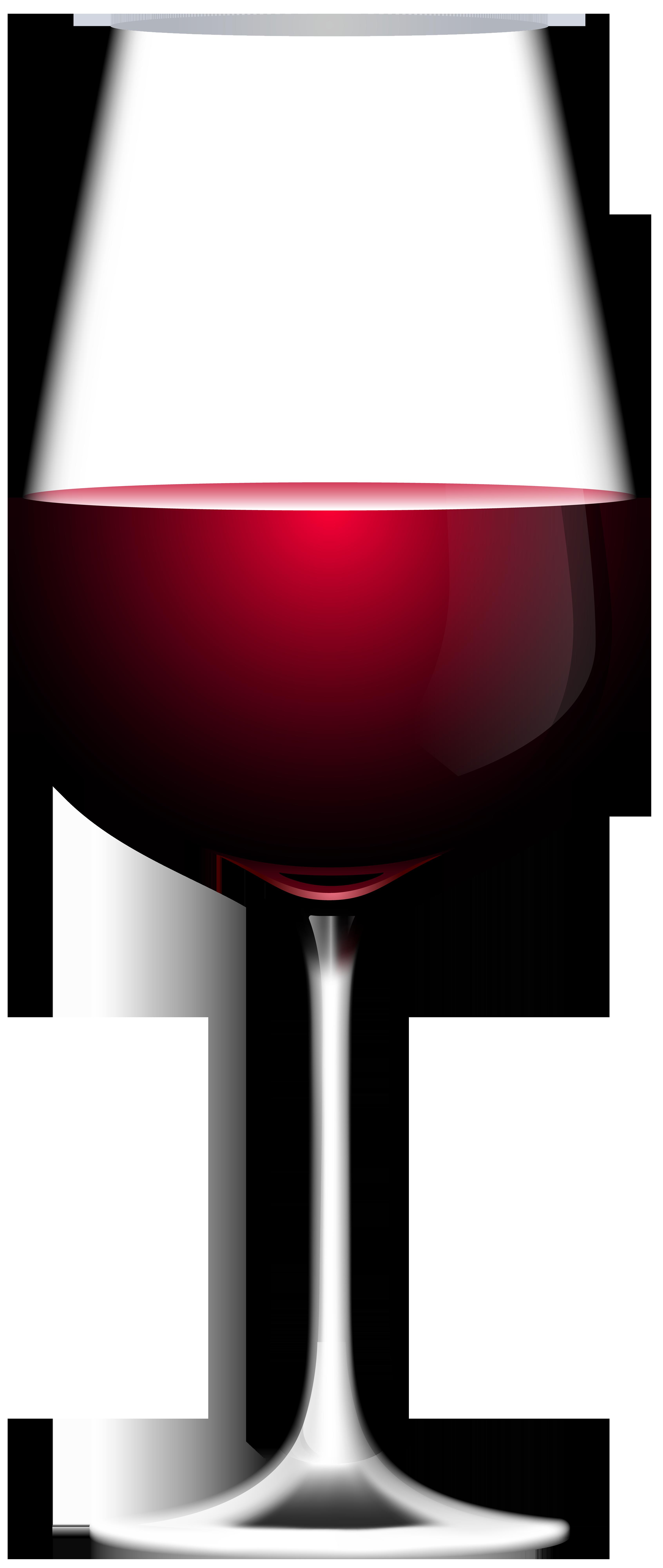 Red Wine Glass Transparent Clip Art Image.