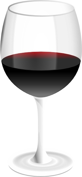 Red Wine Glass clip art Free vector in Open office drawing.