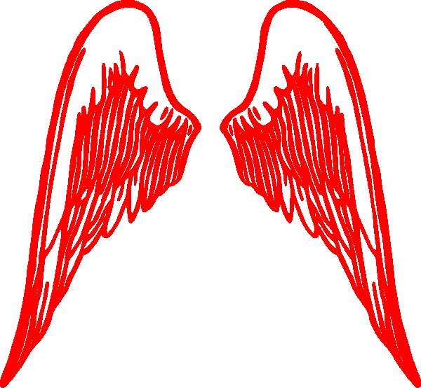 Red Angel Wings Clip Art at Clker.com.