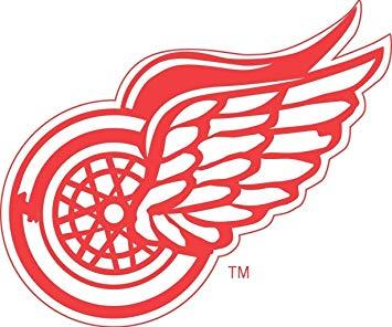 Detroit Red Wings Logo NHL Sports Edible Cake Topper Image.