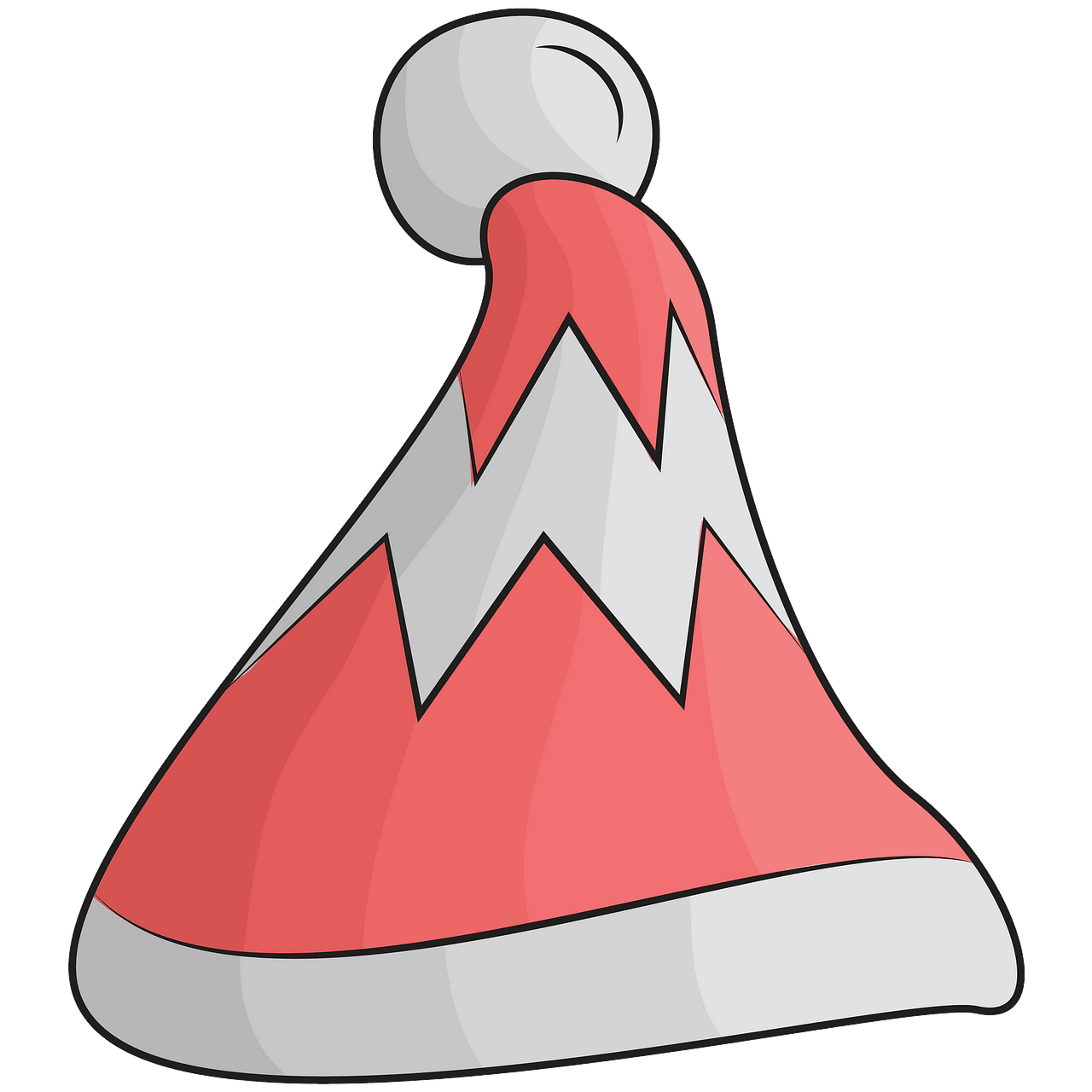 Red winter hat clipart. Free download..