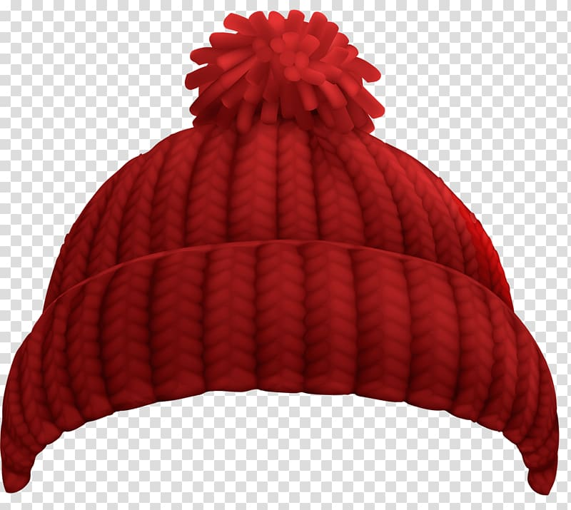 Red bobble hat illustration, Hat Cap Winter Beanie , knitted.