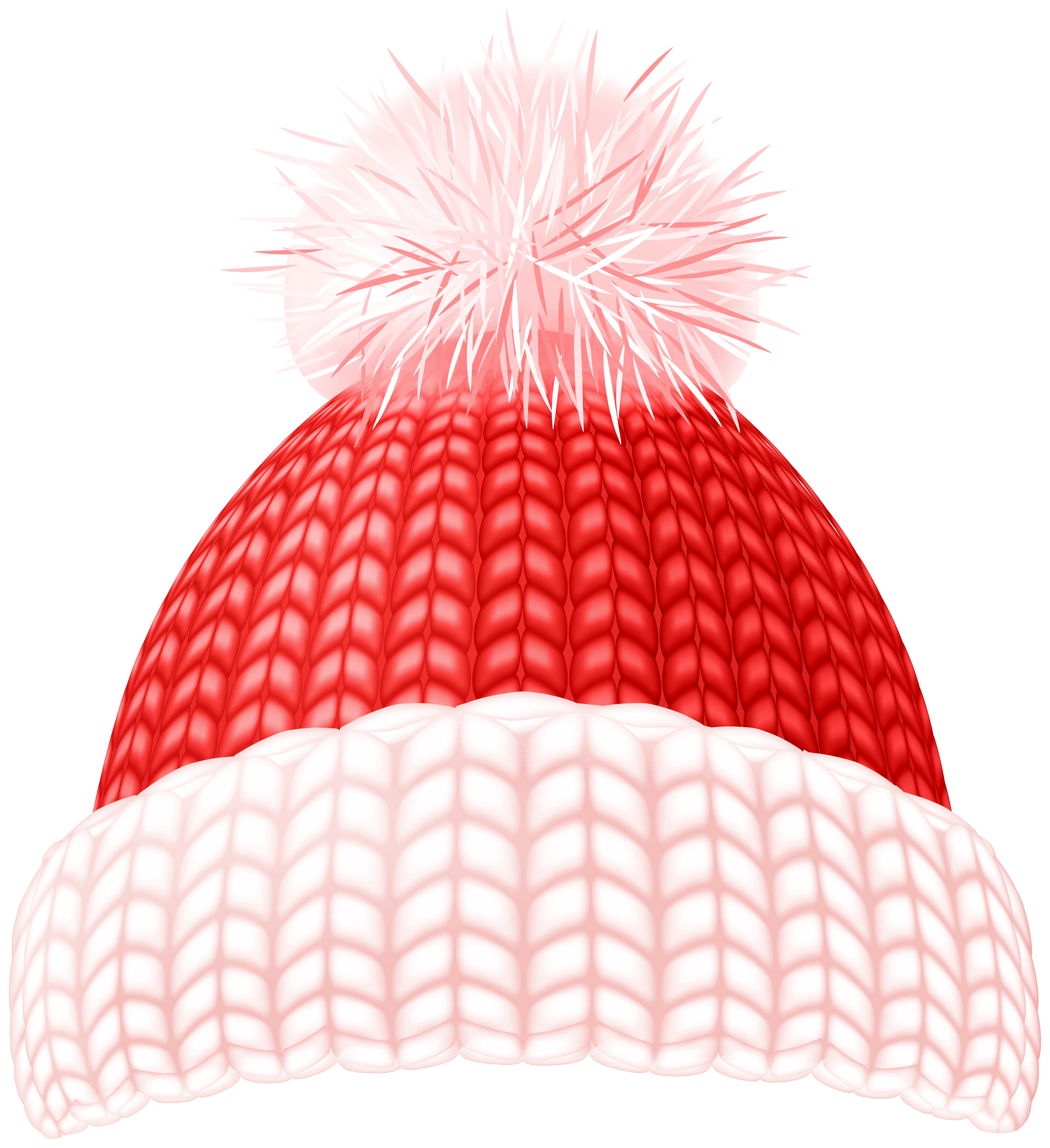 Red Winter Hat Clip Art Image.