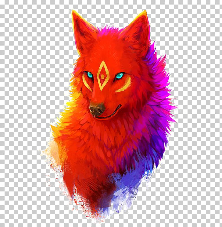 Dog Drawing Digital art, Wolf, red wolf illustration PNG.