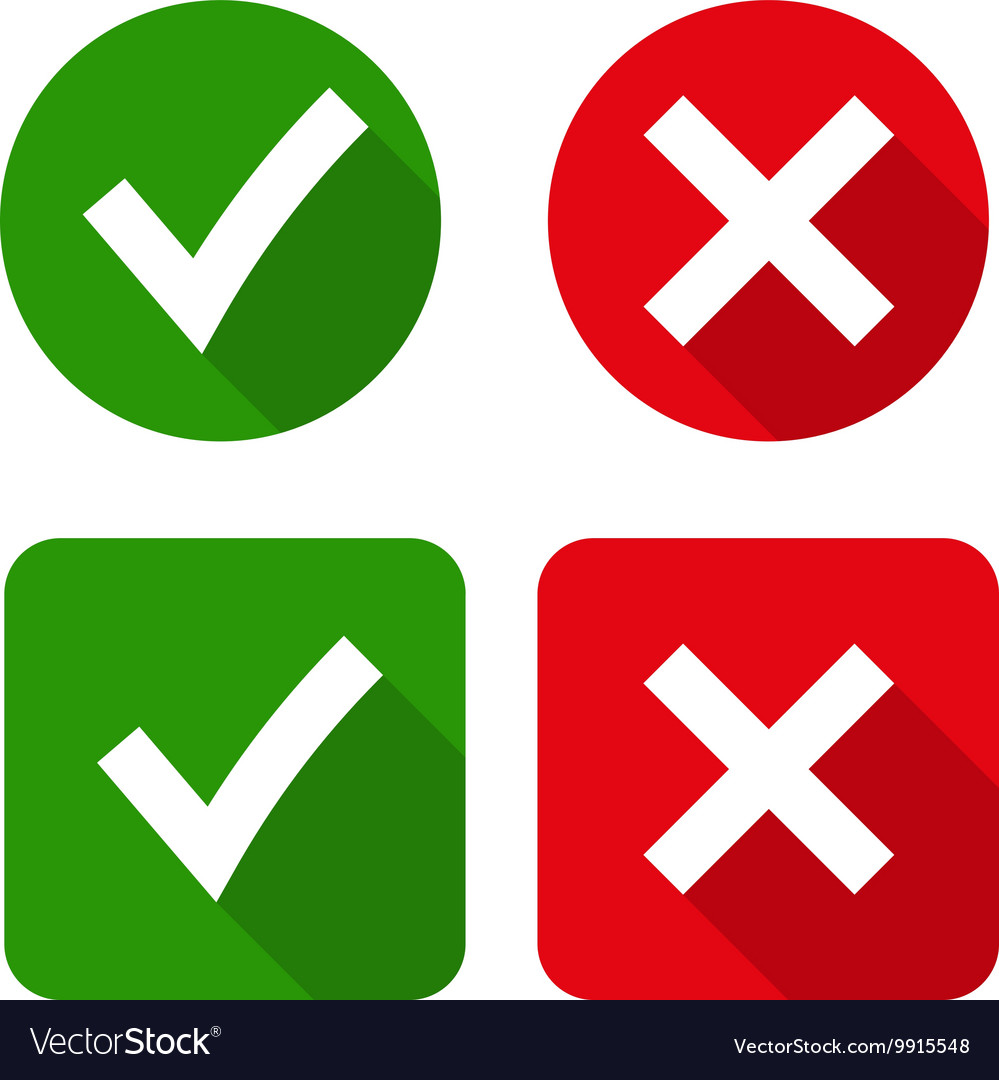 Green checkmark OK and red X icons.