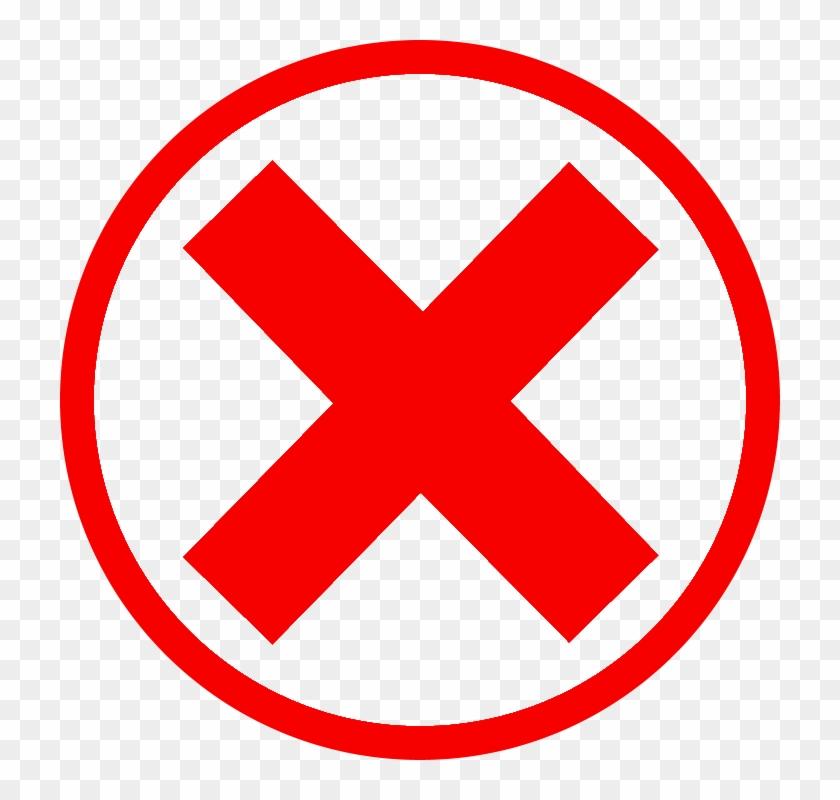 Red Cross Mark Clipart Green Checkmark.