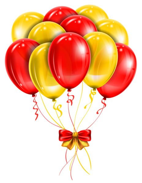Transparent Red Yellow Balloons PNG Picture Clipart.