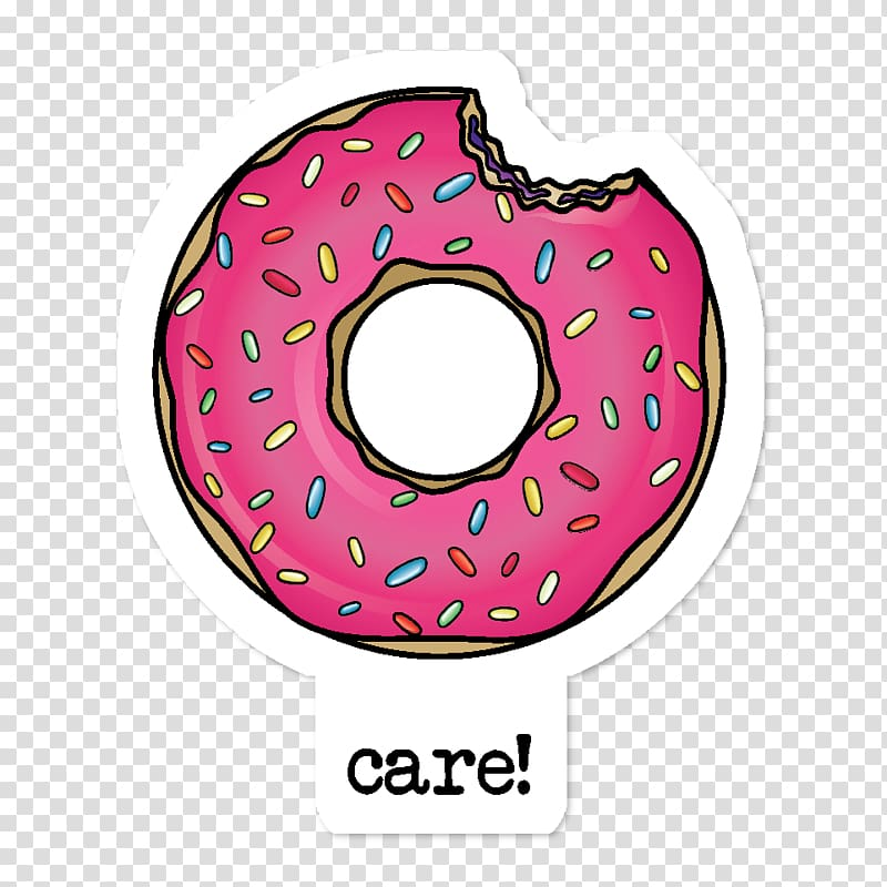 Donuts Sticker Adhesive Redbubble, donuts transparent.