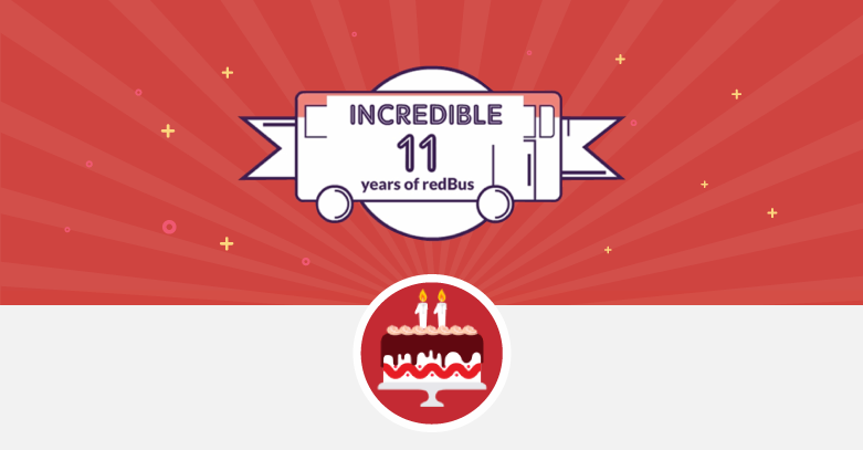 redBus completes 11 crore+ bus ticket bookings in its 11th Year.