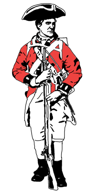 British red coat clipart.