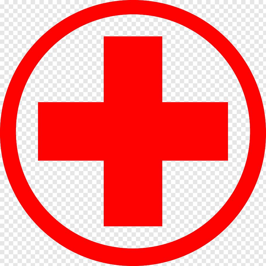 Red cross logo, American Red Cross International Committee.
