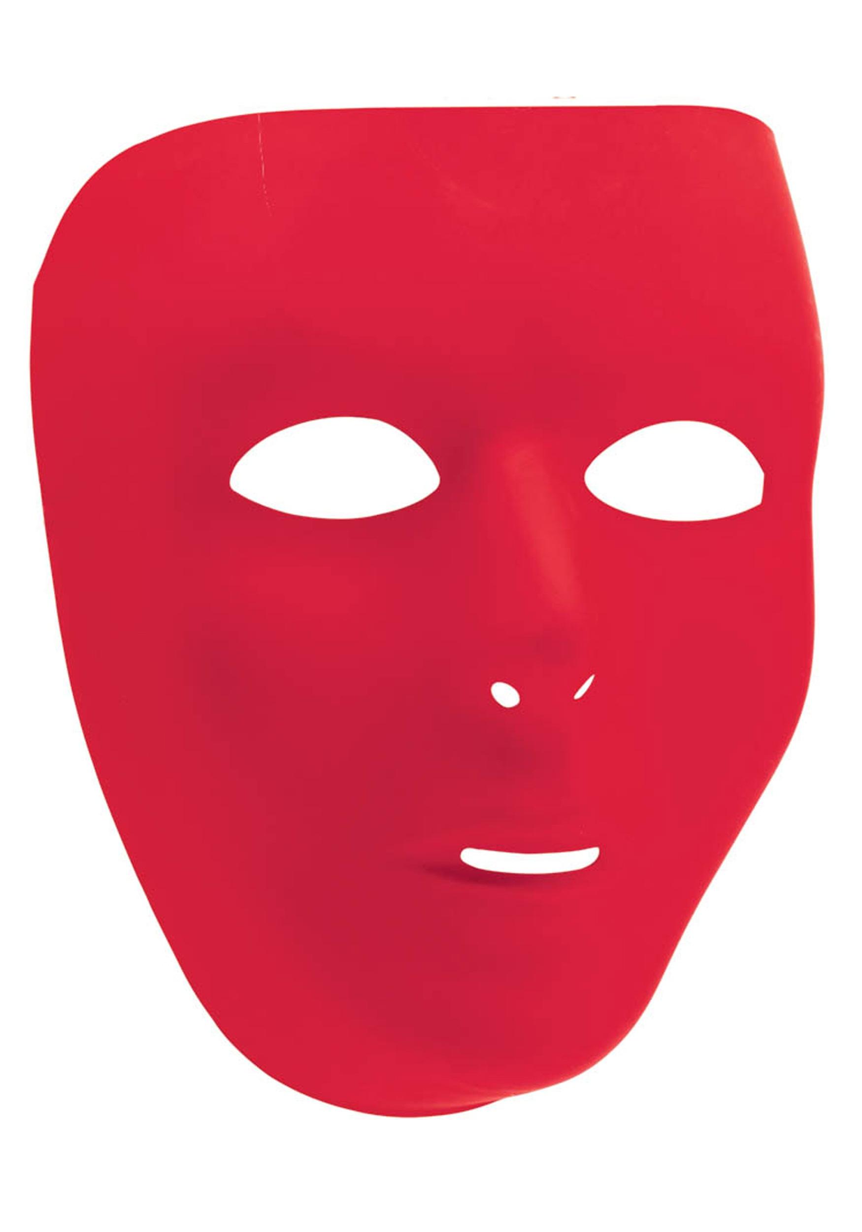Red Full Face Mask.