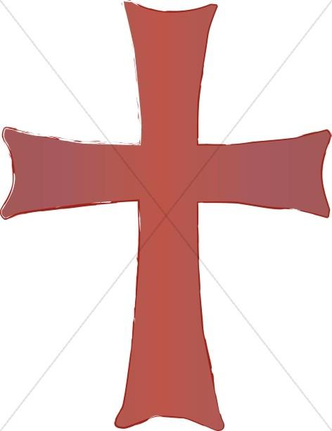 Reddish Cross Clipart.
