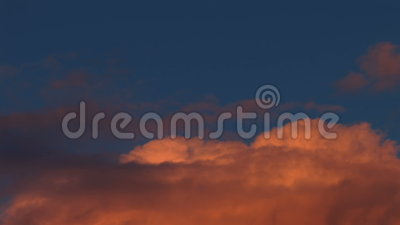 Reddish Clouds Time Lapse Stock Video.