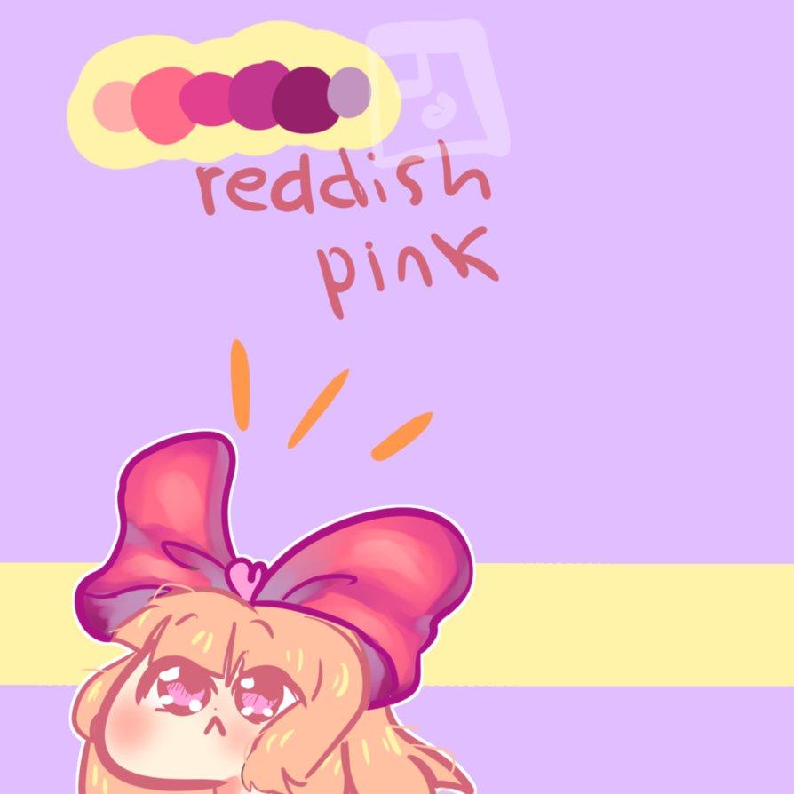 reddish pink palette thing by joeybeiber on DeviantArt.