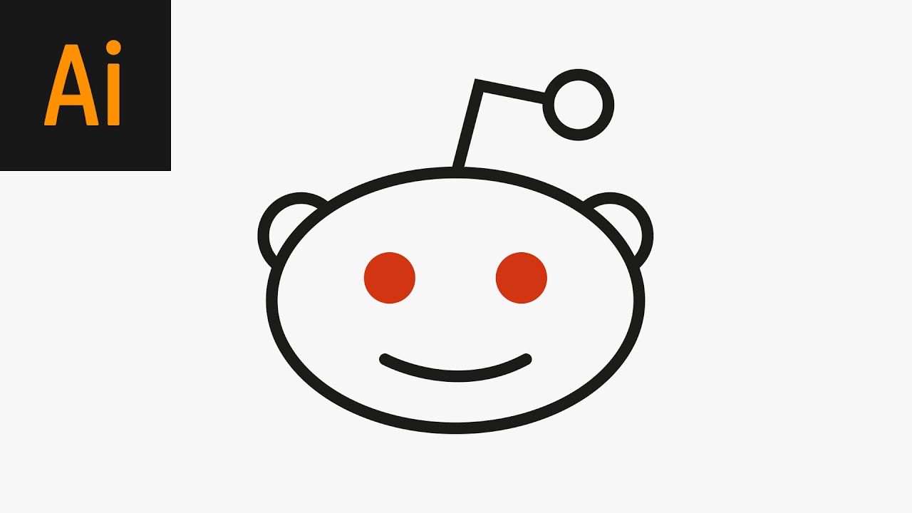 Design the Reddit Logo Illustrator Tutorial.