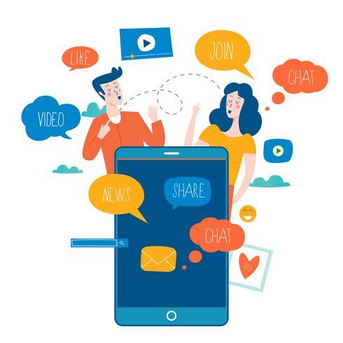 Mídias sociais, redes sociais.