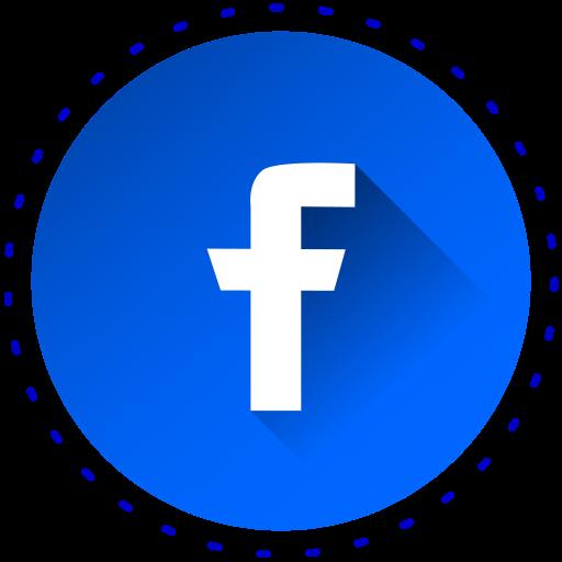 ícone Facebook, redes sociais, cor, azul Livre de social.