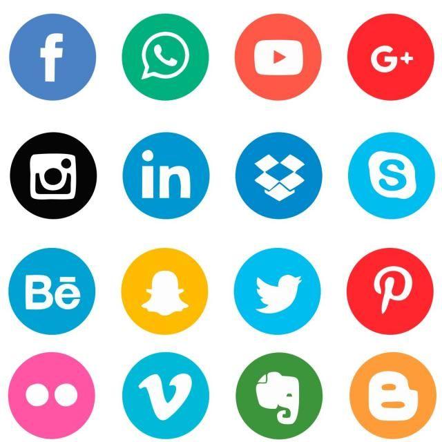 Iconos De Redes Sociales.