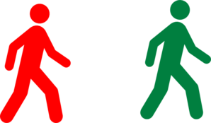 Walking Man Red Green Clip Art at Clker.com.