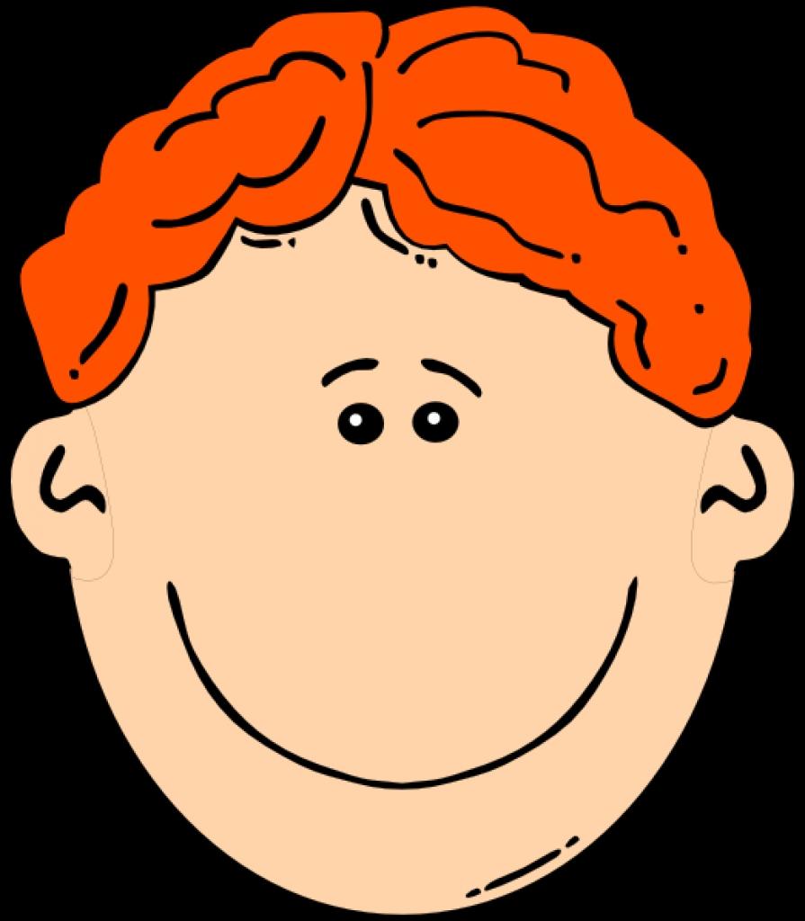 Red head boy clipart.