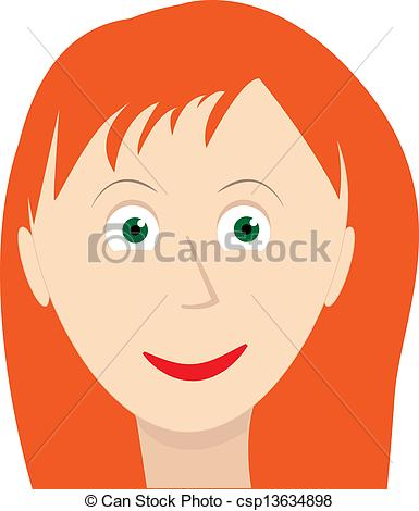 Red Haired Girl Clipart.